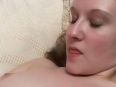 Sexy Blonde Slut Plays With Pussy And Huge Dildo