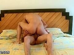 Teen rides cock bareback