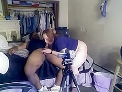 Non-Professional gf is fucked in interracial video first time taped on camera