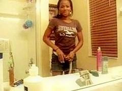 Sexy bathroom strip.