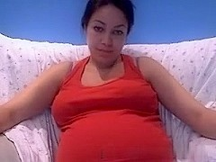 Pregnant immature girlfriend on webcam