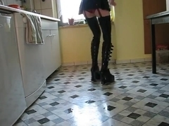 a Fantasy maid in work