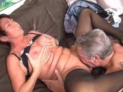 MILF enjoys fucking around with her mature husband