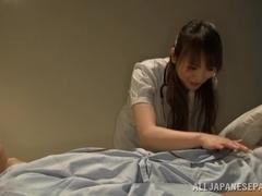 Japanese AV Model naughty nurse gets a dick ride