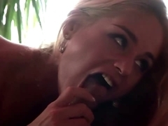 Breasty blond Cathy Heaven blows and rides jock