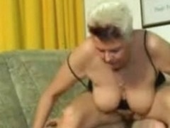 German Mature whore sucks a young cock then fucked hard