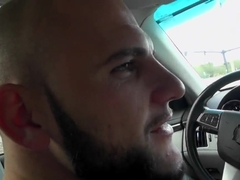 Alexis Perez is a sexy brunette slut and she is doing blowjob in car