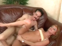 Skinny young blonde Sierra Sinn has a horny older guy roughly banging her peach