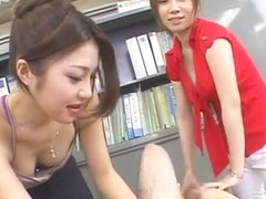 Exotic Japanese whore Aki Yatou, Yuuna Takizawa in Best Threesome, POV JAV video