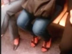 Feet in a metro train VII