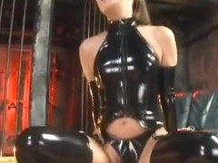 Best Japanese model Nana Ninomiya in Horny Latex, Fetish JAV clip