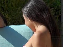 Sexy Adrian Maya Plowed Poolside By A Perv