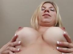 Fabulous pornstar Nikki Neil in best masturbation, blonde adult clip