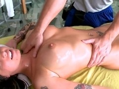 Sexy tattooed babe Christy Mack spends time with a masseur