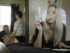tic smoking clip with blonde, couple scenes 1
