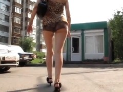 Following Sexy Teen Ass in Russia HD