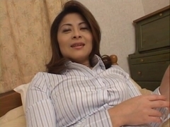 Reona Azabu Pretty Asian doll gets some hard gangbang action