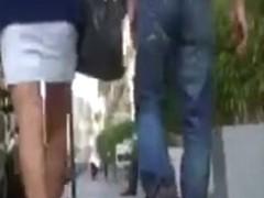 Voyeur her sexy legs & high heels