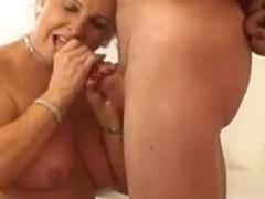 Sexy Golden-Haired Granny Smokin' Sex