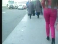 Candid ass voyeur walk - 2