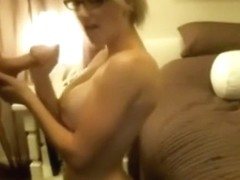 She is such a great fucker and she wants him to cum all over her