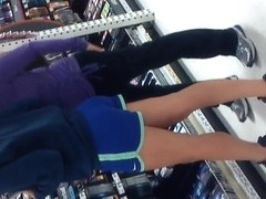 1 Sexy Teen Ass In Blue Shorts