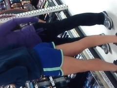 1 Sexy Teen Ass In Blue Shorts