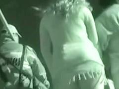 Upskirt panties voyeur with a sexy ass blonde