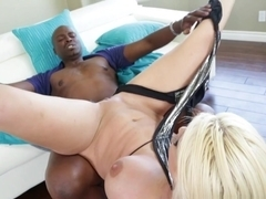 Crazy pornstars Lexington Steele, Leya Falcon in Horny Interracial, Anal sex movie