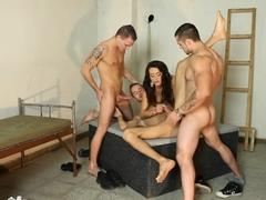 Best pornstar Eliss Fire in fabulous group sex, anal xxx clip