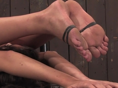Angelica Saige20yr old co-ed trapped by only one bar brutally fucked by a machine!