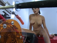 Crazy fetish xxx video with best pornstar Beretta James from Fuckingmachines