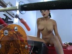 Crazy fetish xxx video with best pornstar Beretta James from Fuckingmachines