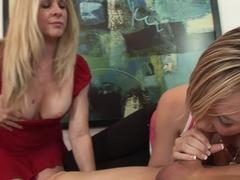 Amazing pornstars Angela Attison, Tracey Sweet in Best Threesomes, Blowjob xxx clip