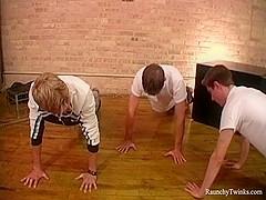 RaunchyTwinks Video: Coach Boyz' sexy workout