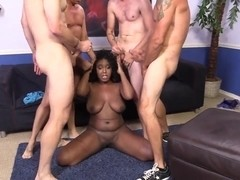 Black girl Layton Benton suck and fuck white demolition crew
