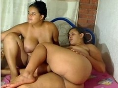 Obese Lesbo Pair Playing on Cam