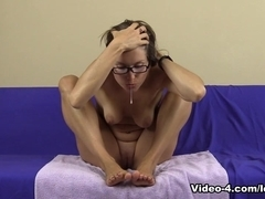Spitting Licking Feet With Glasses