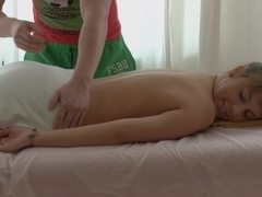 Hawt legal age teenager heated with vibro massage, licked and screwed