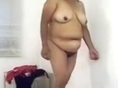 Busty and corpulent older black brown wife naked for you