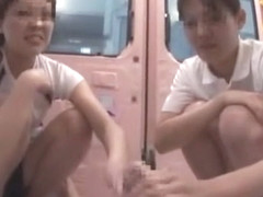 Incredible Japanese model in Horny Bus JAV scene