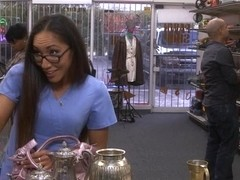 Babe in need of money fucked by pawn man at the pawnshop
