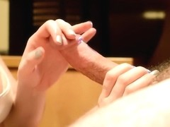 Sensual Massage with Cum on Tits