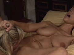 Hottest pornstars Bree Olson, Nicole Moore in Incredible Blonde, MILF sex video