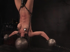 Tia Ling Inverted, suspended, tortured, as her rock hard bodyis sexually abused.
