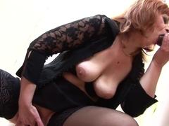 Exotic pornstar in horny mature, lingerie adult scene