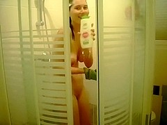 Just a skinny exgirlfriend in the shower and I spied on her