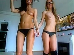 Two webcam teens have some dirty fun