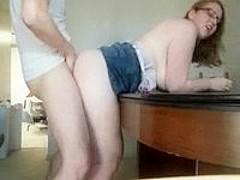 Plump cuty offers herself to lust of her boyfriend's shy friend.