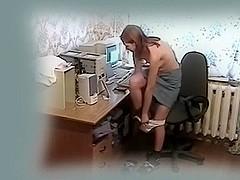 Masturbating in front of the PC